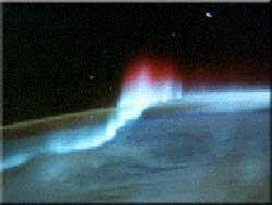 Nordlys fotograferet fra rumfærge